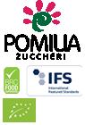 Pomilia Zuccheri - logo mobile con certificazioni